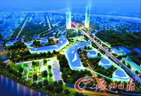 今年广州国际生物岛进入建设高峰期,景观堤岸,标准产业单元等基础设施