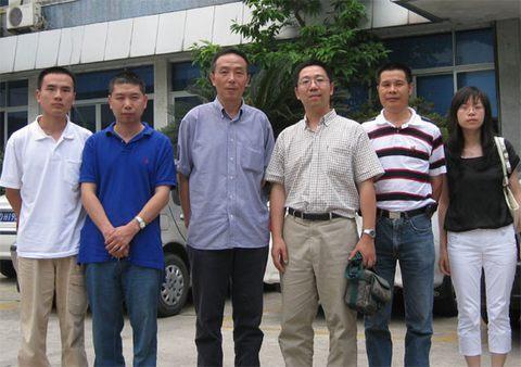 美国海洋生物研究所高级研究员唐剑武博士省海洋水产养殖研究所访问