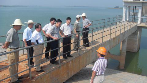 文林副厅长在樟树市吴城水库检查工作