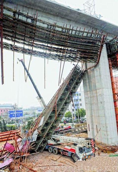 杭州高铁高架桥支架又出事了