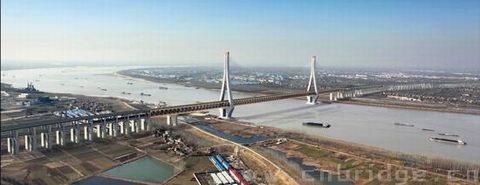 关 键 词:公铁两用 斜拉桥 630米    铜陵长江大桥钢桁梁结构概况 1