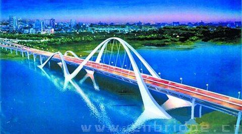 锦 钢 梁系杆拱桥 金屿大桥设计锁定三方案