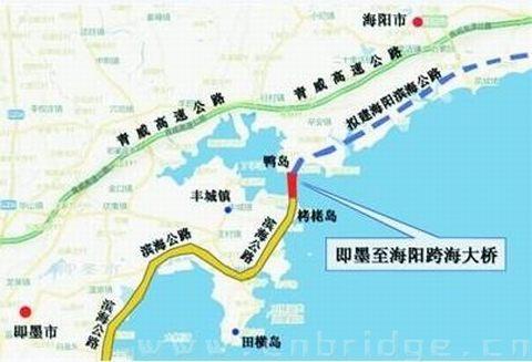 海阳到青岛北站的地图