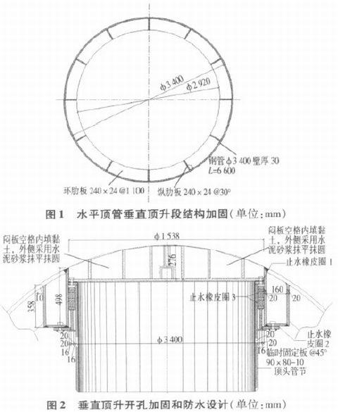 对于垂直顶升开口部分,根据钢结构设计构造要求采用环梁加固法进行