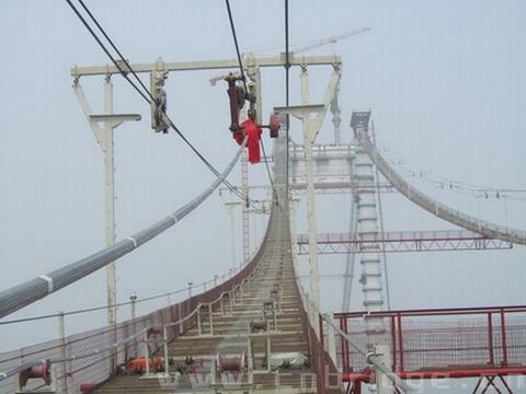 马鞍山大桥召开悬索桥主缆架设首件总结会