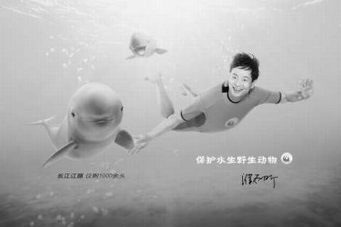 水生野生动物保护公益广告亮相京城