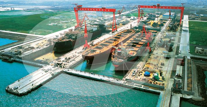 图:韩国stx造船集团在大连长兴岛新建全球最大船坞